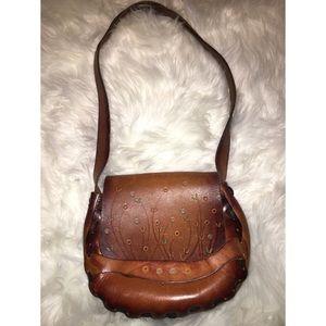 Handbags - Vintage  Leather Boho Purse